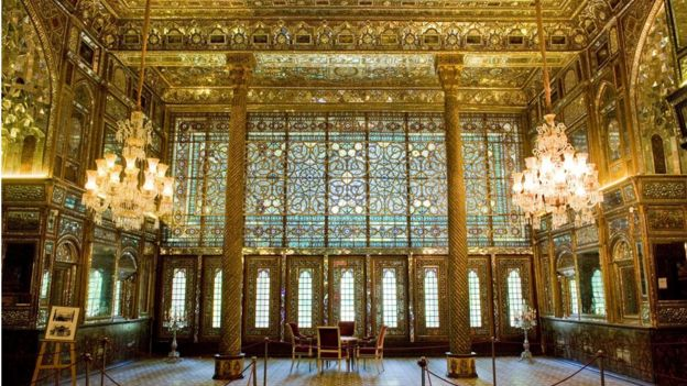 Interior of the Golestan Palace in Tehran
