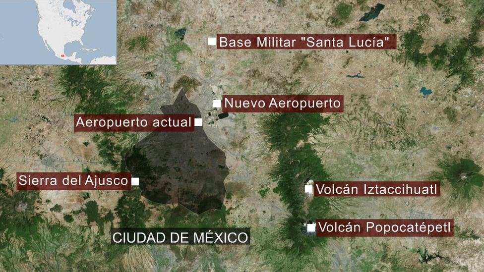 Mapa geográfico de Ciudad de México