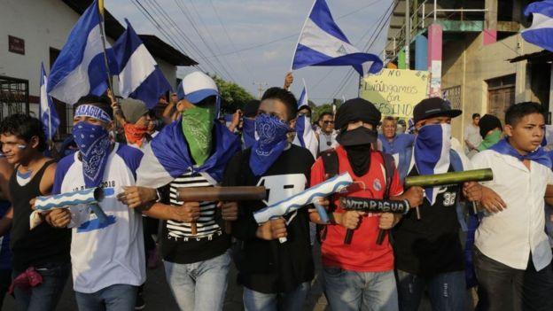 Protesta en Niquinhomo