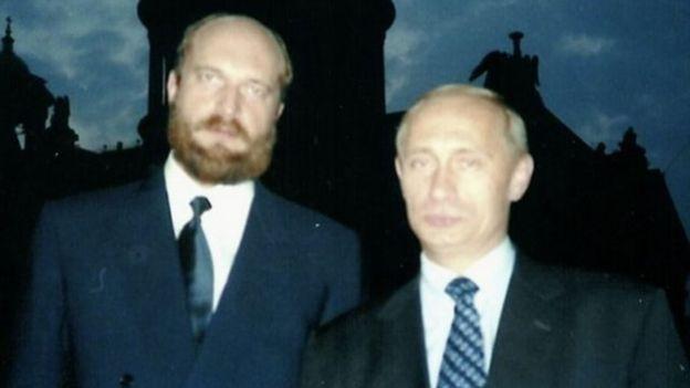 Sergei Pugachev y Vladimir Putin