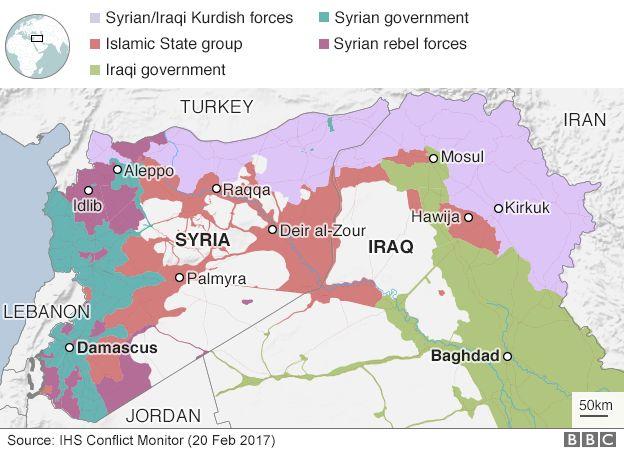 Map of territorial control (20/02/17)