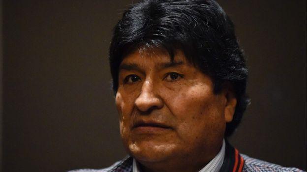 Primer plano de Evo Morales