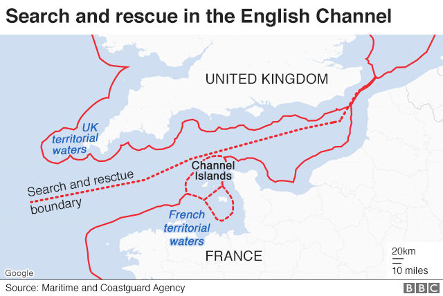 Map Of Uk France.Who Rescues Migrants In The Channel Bbc News