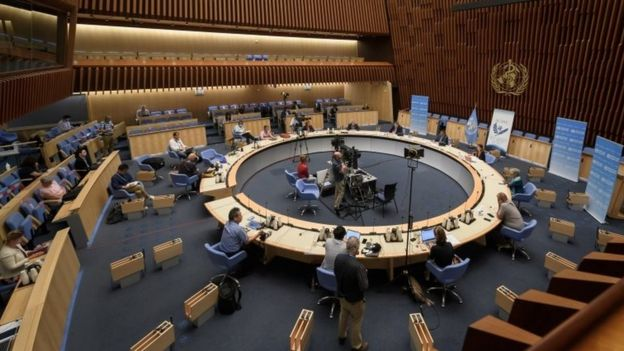 La sede de la OMS en Ginebra