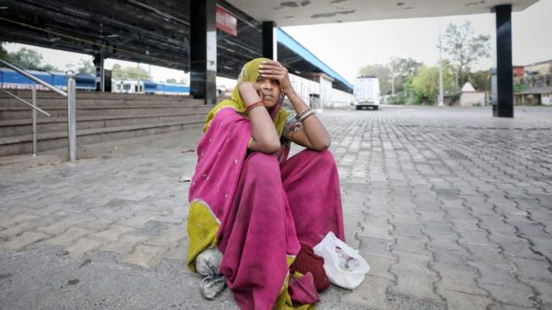 Many are stuck at railway stations after travel services were suspended on Tuesday