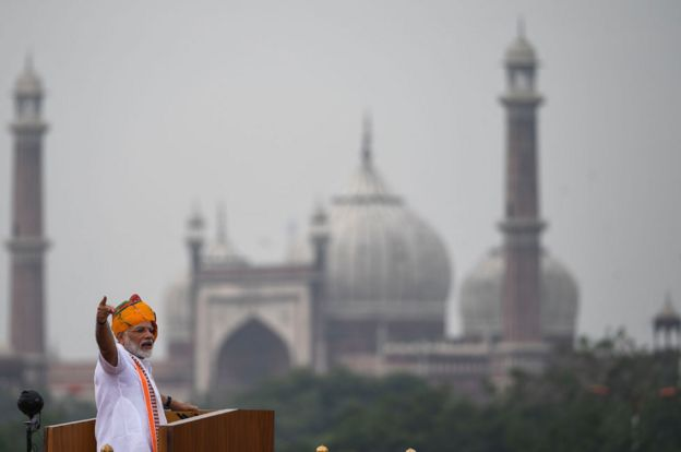 Modi speech in New Delhi as he celebrates Independence Day
