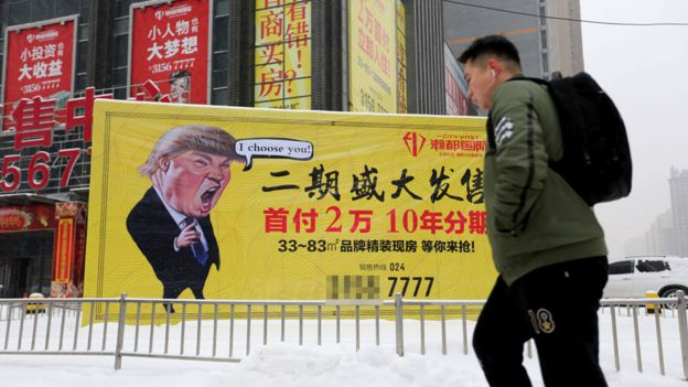 Un cartel en Shenyang, China.