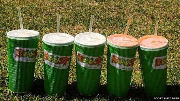 Boost Juice Bars drinks