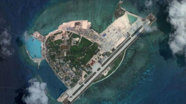 Imagen satelital de la isla Woody