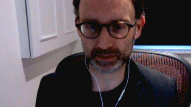 Professor Neil Ferguson appearing via video call before the Science and Technology Committee, 25th March 2020.