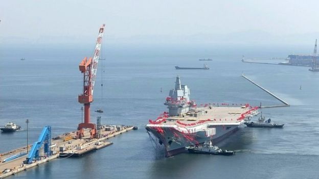 Aircraft carrier sets sail in Dalian