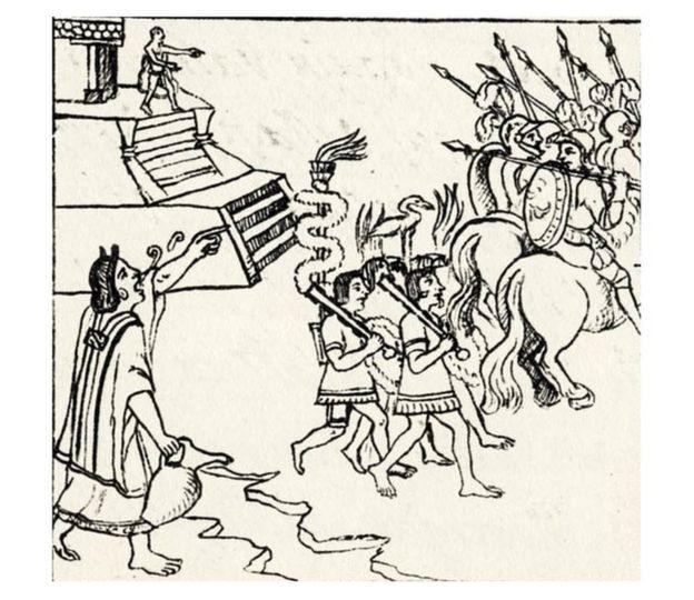 Una ilustración del Lienzo de Tlaxcala