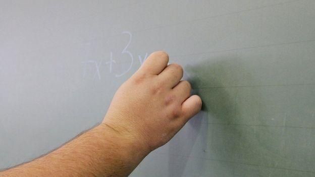 Lousa com equação matemática