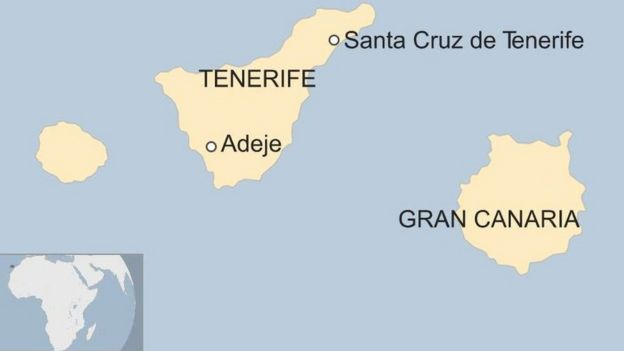 Map Of Spain Tenerife.Tenerife Cave Son Leads Police To Bodies Of Mother And Brother
