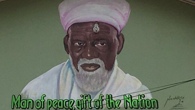 Mural of Sheikh Osman Sharubutu in Accra, Ghana