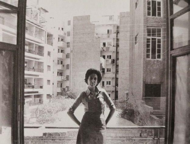 في منطقة الصنائع (بيروت) عام 1977