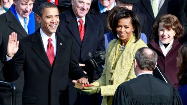 Barack Obama đắc cử chức Tổng thống Mỹ vào thời điểm năm 2009.