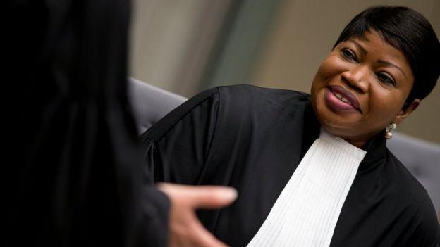 File photo showing Fatou Bensouda (4 April 2018)