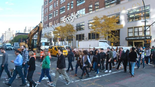 Google staff walk out