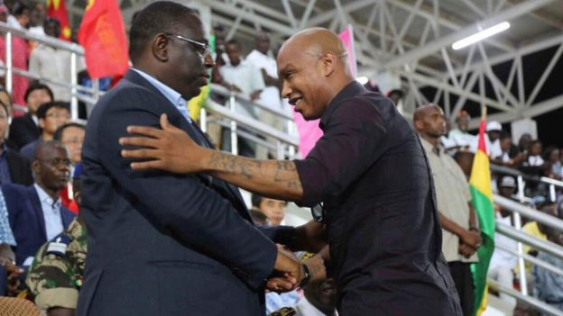 El Hadji Diouf and President Macky Sall