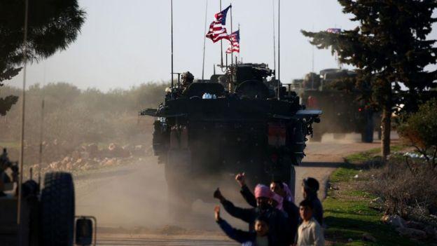 Menbiç'teki ABD askerleri