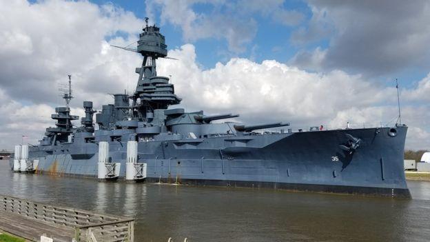Battleship Texas, preservado nos EUA, participou da Primeira Guerra