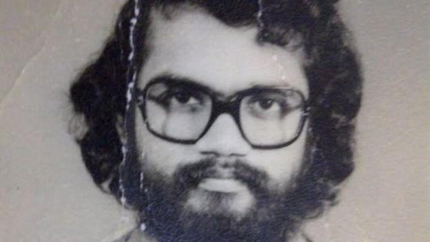 صورة لأنادوراي عندما انضم لمنظمة أبحاث الفضاء الهندية