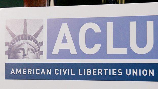 Letrero de la ACLU