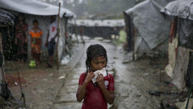 Keadaan pengungsian Cox Baza, Bangladesh