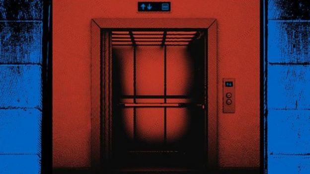 Ilustración de un ascensor.
