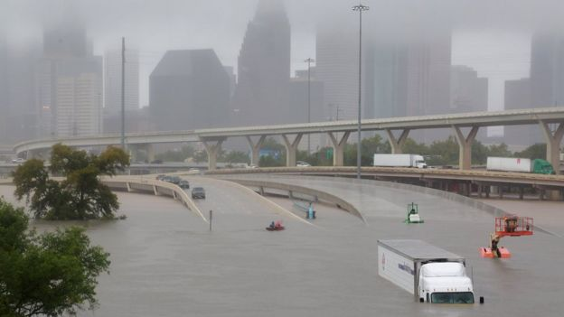 Inundaciones causadas por la tormenta Harvey en Houston, Texas.