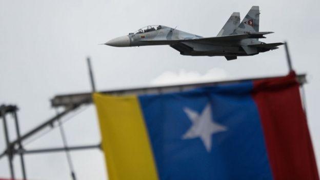 Sukhoi de fabricação russa que pertence às forças venezuelas