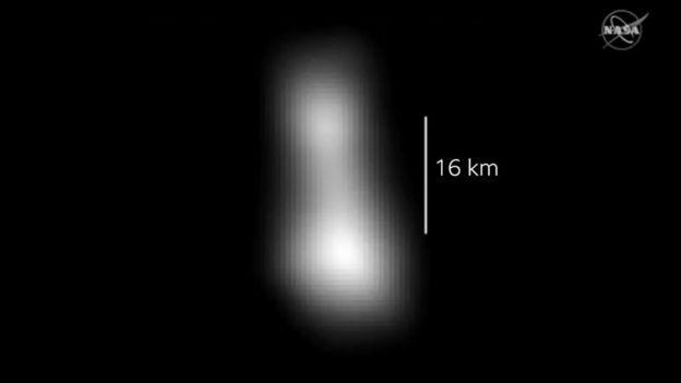 Formato da Ultima Thule, de acordo com os dados enviados pela New Horizons