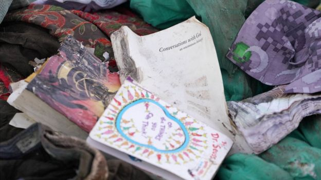 Personal belongings from the Ethiopian Airlines plane crash on Sunday