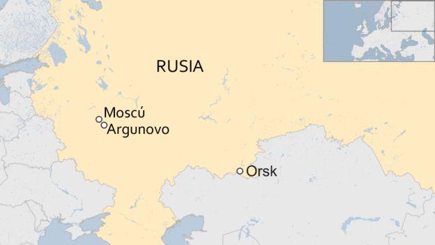Mapa Rusia