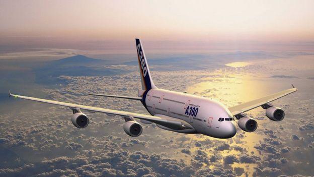 An A380 plane