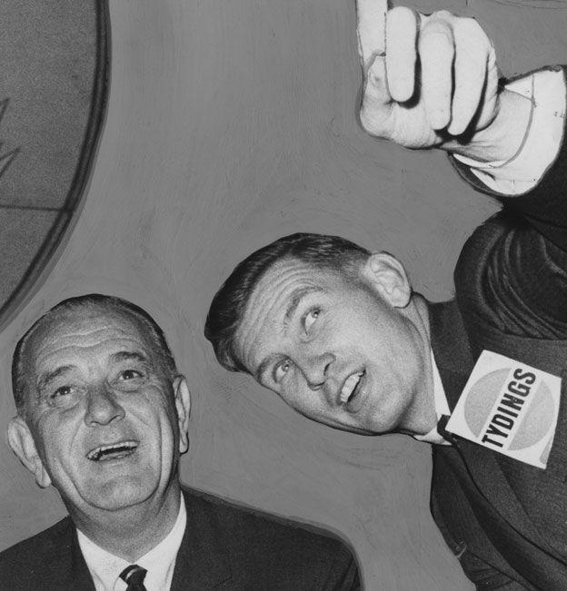 Tydings with President Lyndon Johnson in 1964