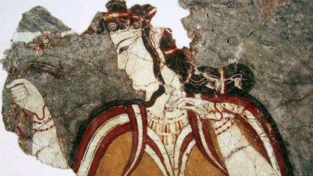 Mujer de la civilización micénica