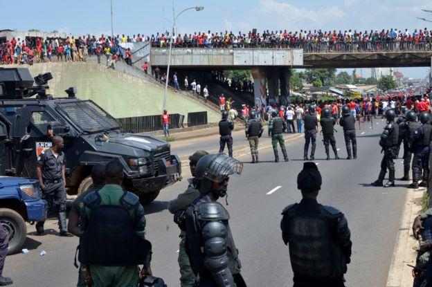 Un cordon policier à Conakry ce jeudi pour encadrer les manifestants