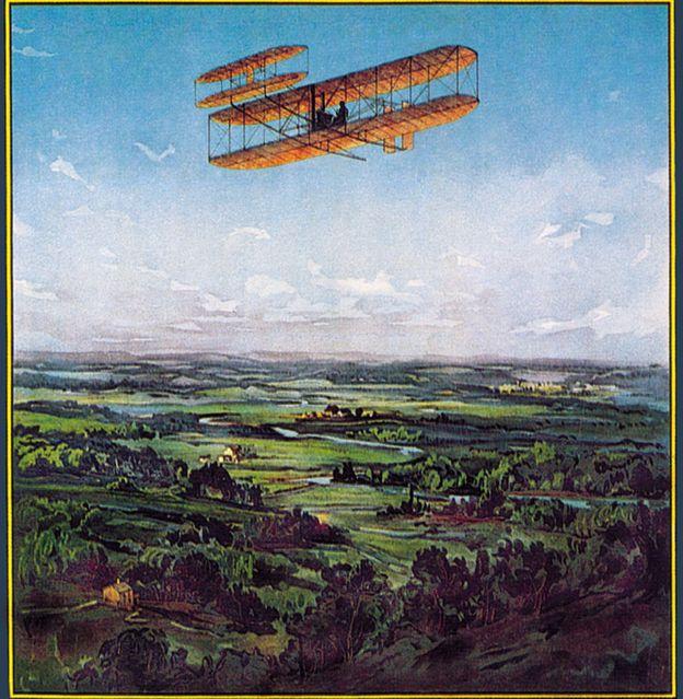 Afiche de celebración por la hazaña de los hermanos Wright