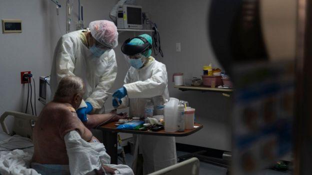 Paciente tratado de covid-19