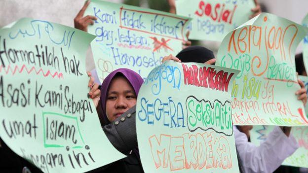 protesta LGBT en Malasia.