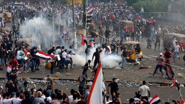 قوات الأمن واجهت المحتجين بقنابل الغاز