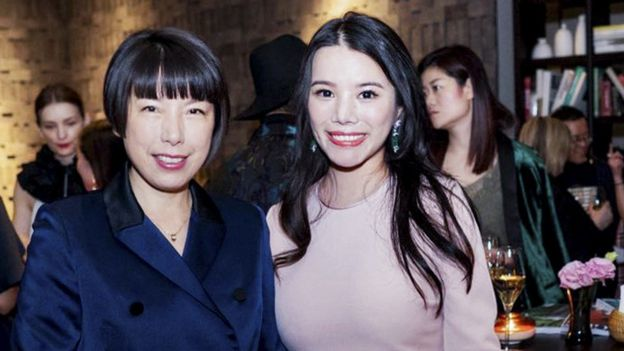 Editor in chief of Vogue China Angelica Cheung and Chinese fashion investor Wendy Yu