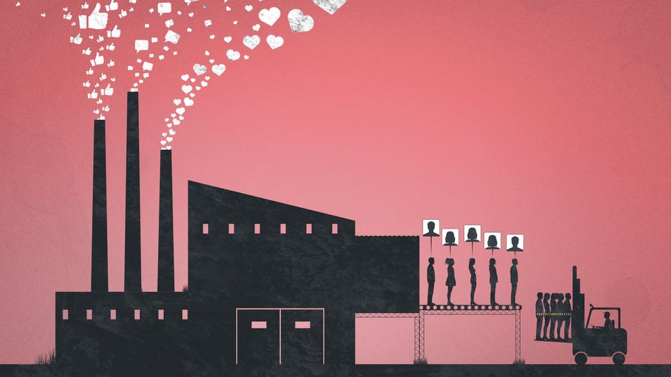 Иллюстрация фабрики по производству троллей