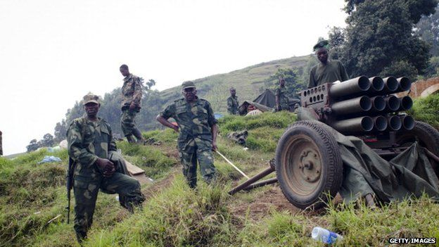 M23 rebels in eastern DR Congo