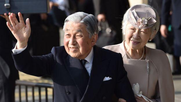 El emperador Akihito y la emperatriz Michiko.