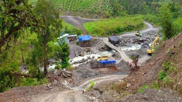 Proyek Jembatan Kali Yigi di Kabupaten Nduga, Papua