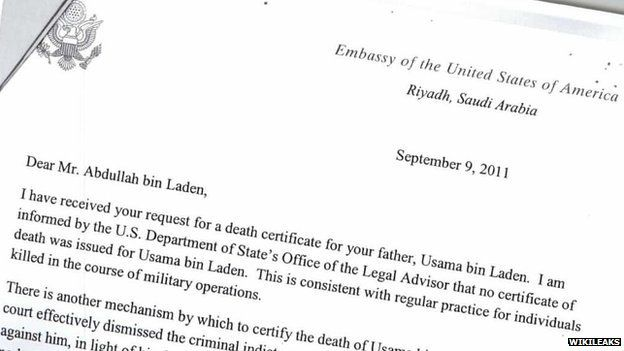 Wikileaks: Bin Laden\'s son \'asked for father\'s death certificate ...