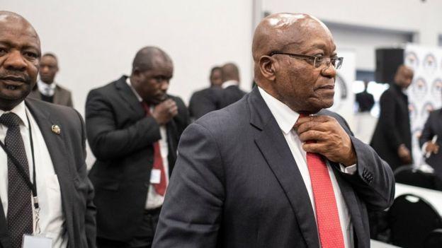 Jacob Zuma à son arrivée devant la commission d'enquête sud africaine